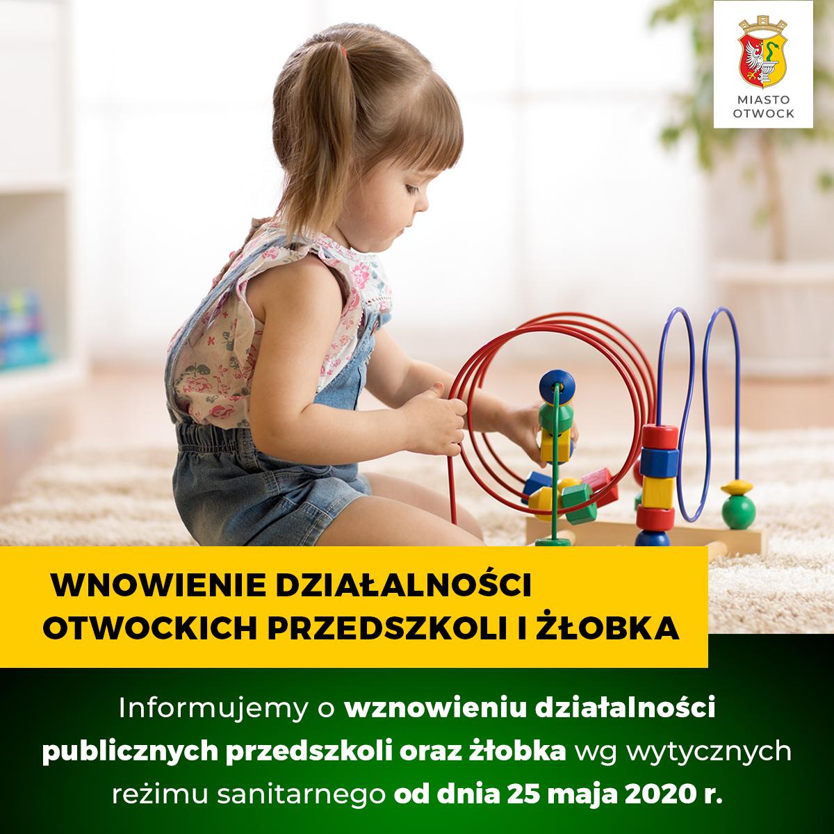 Wznowienie działalności otwockich przedszkoli i żłobka